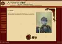example of website for artworksphf.co.uk - An Artwork page